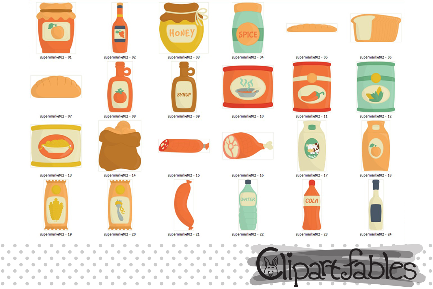 Cute Market clipart, Grocery clipart, foods - INSTANT example image 2