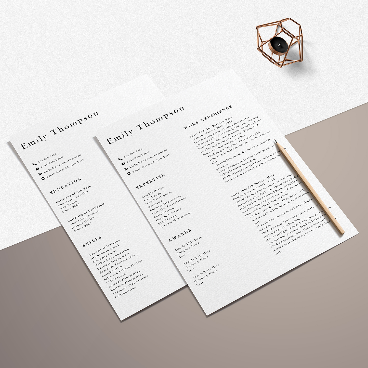 Resume Template | Photoshop CV Template - Emily example image 6