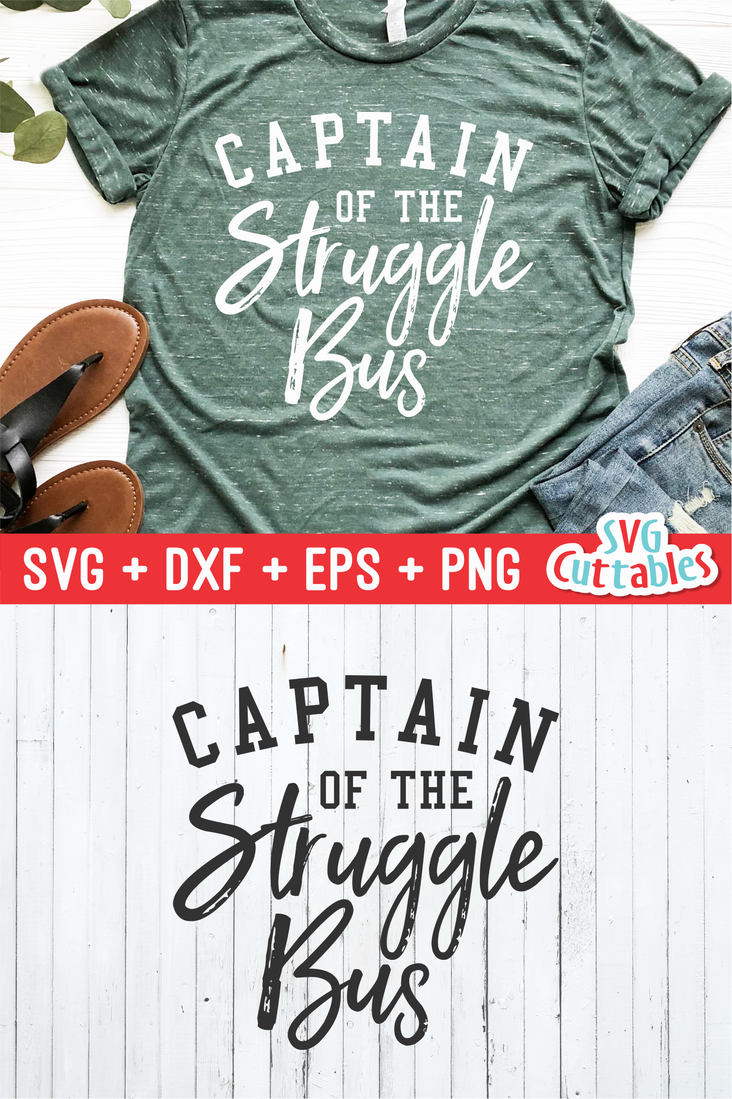 Captain Of The Struggle Bus   Funny   SVG Cut File example image 2