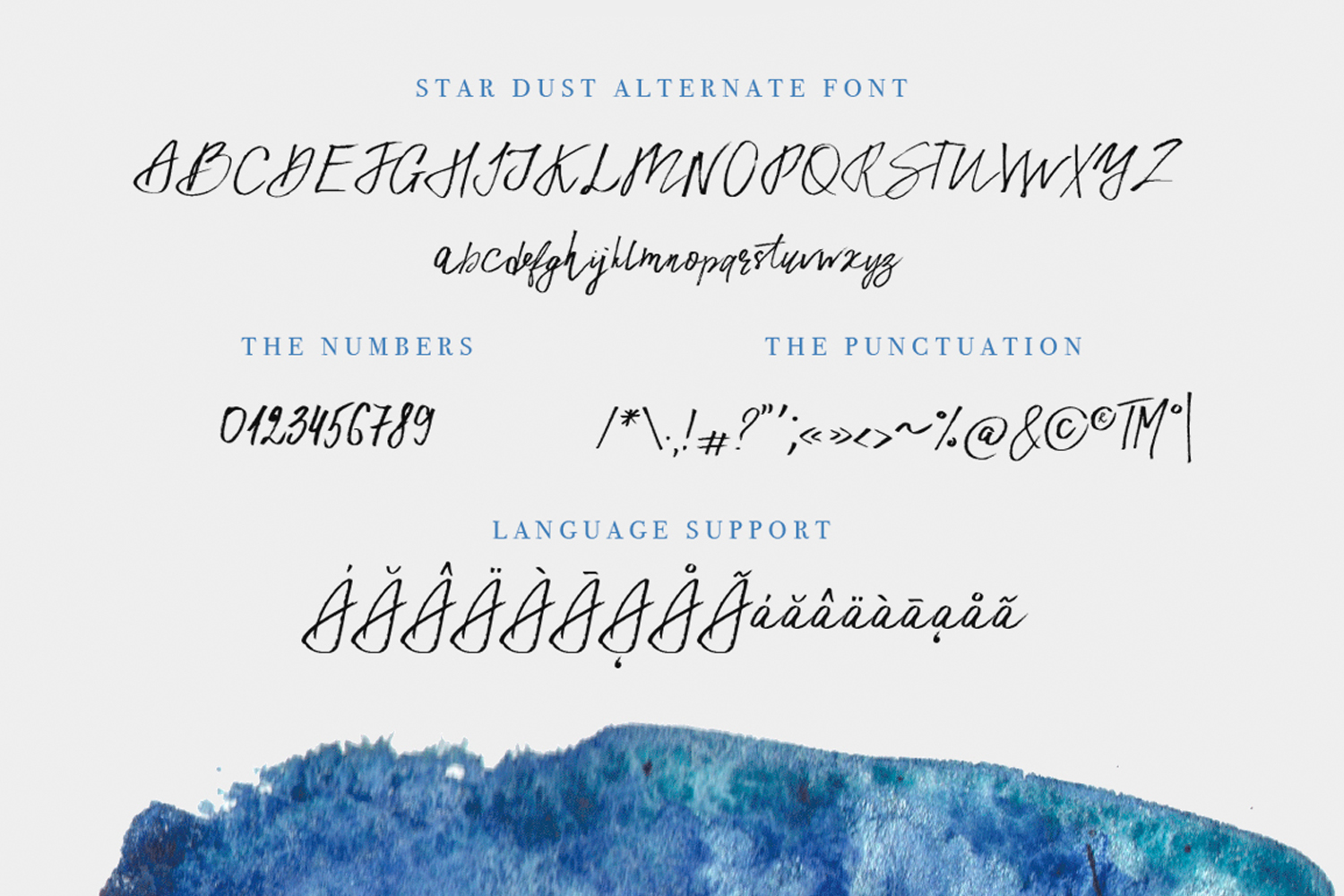Star Dust duo font. example image 8