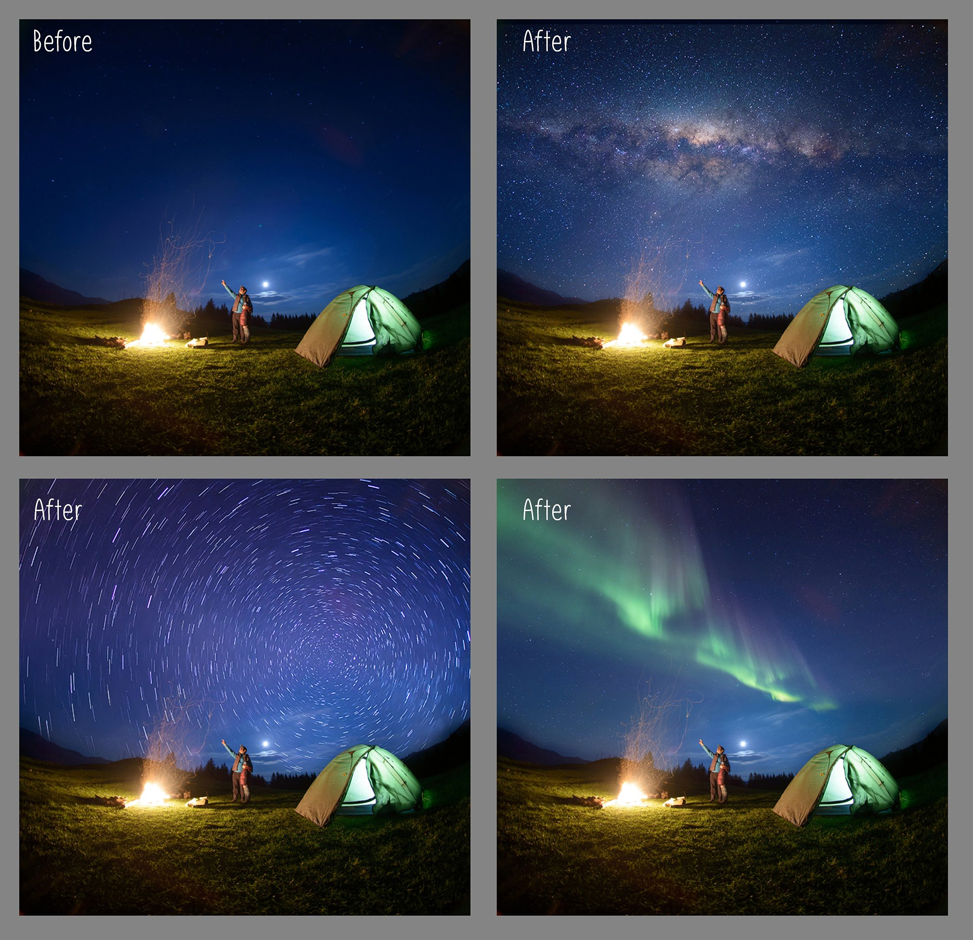 100 Night Sky Overlays example image 3