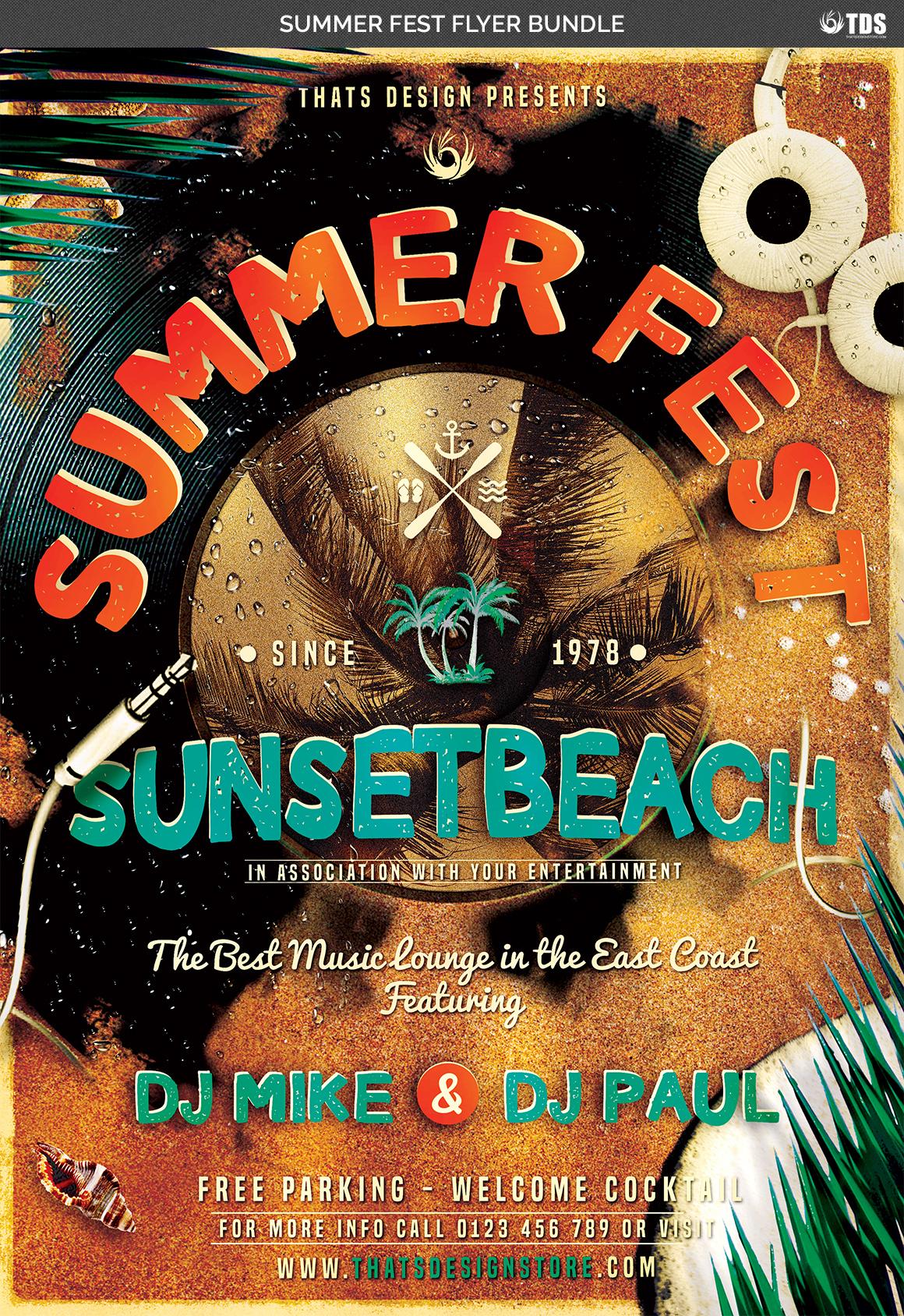 Summer Fest Flyer Bundle example image 5