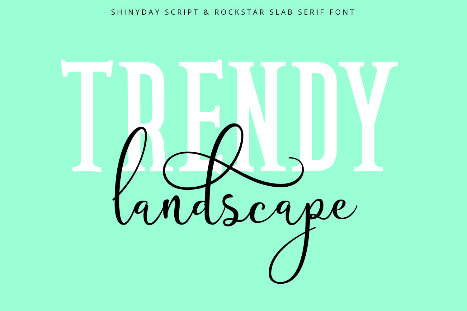 Shinyday & ROCKSTAR font duo example image 3