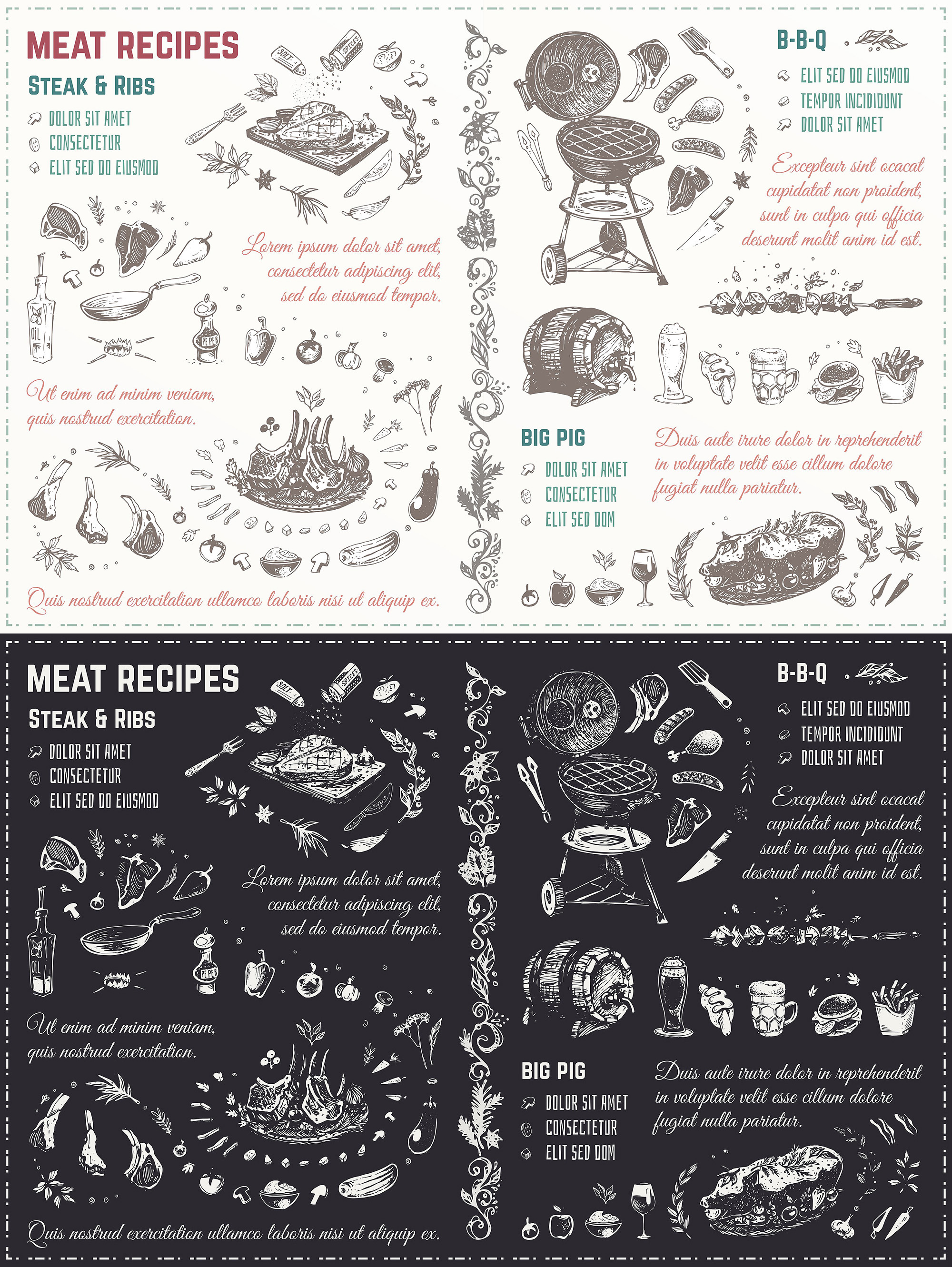 Hand drawn cooking and food icons example image 14