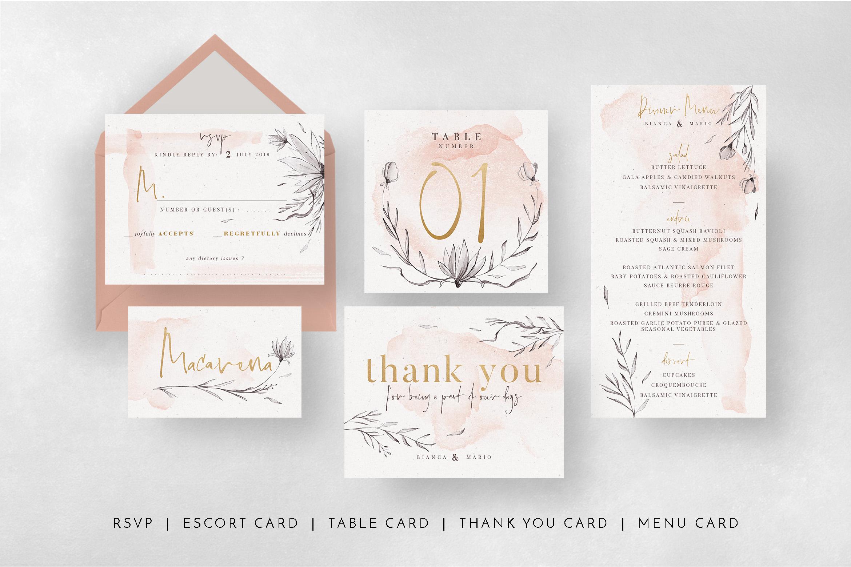 Peach & Grey Floral Wedding Suite example image 8