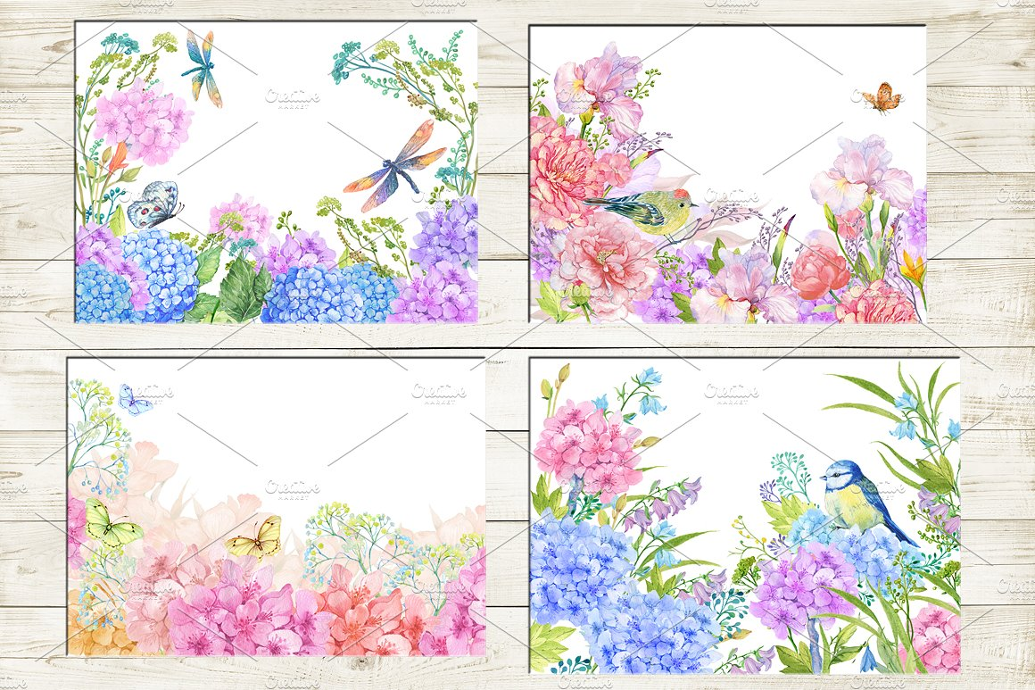 35 floral backgrounds watercolor example image 2