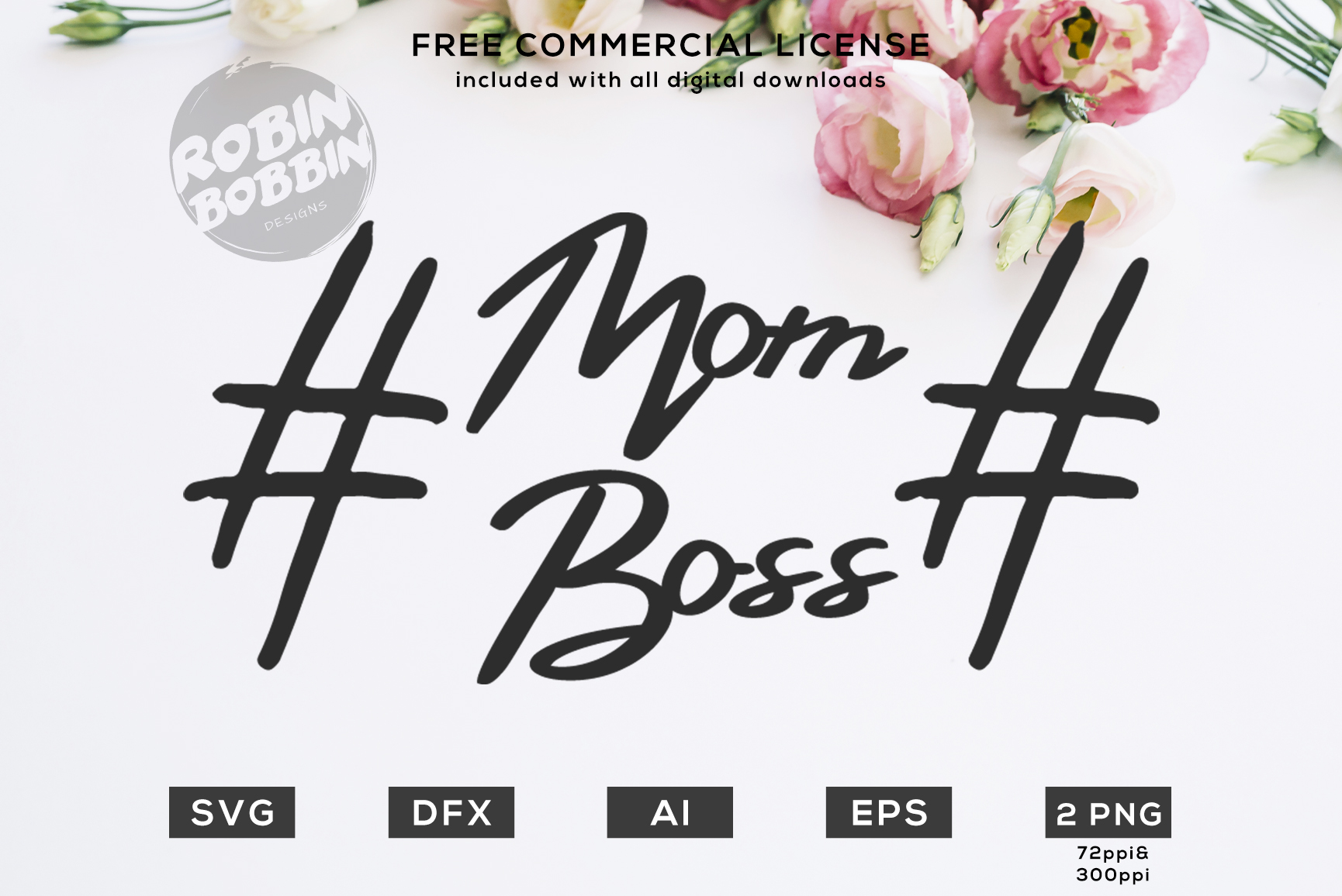 Mom Boss Design for T-Shirt, Hoodies, Mugs and more example image 1