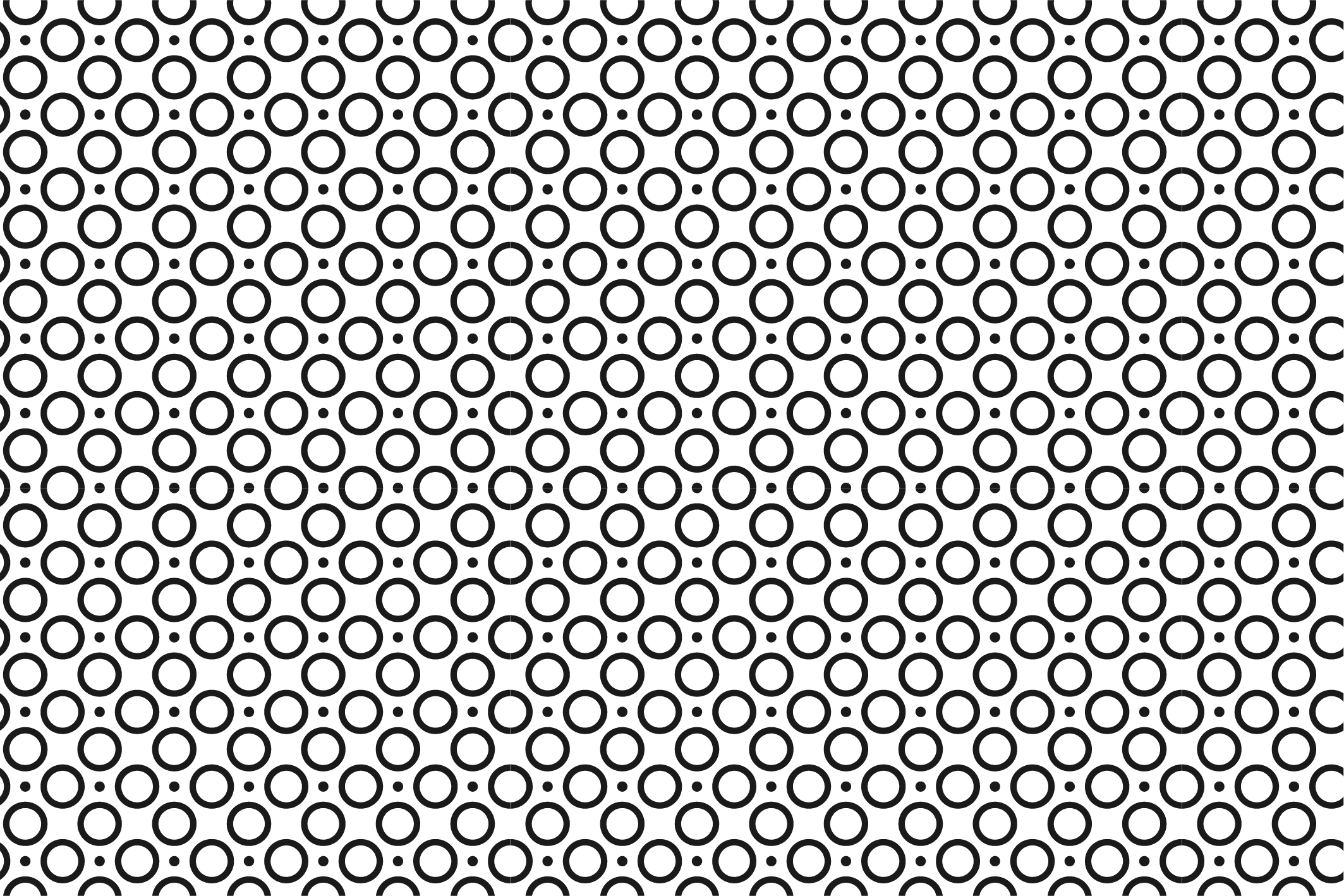 Geometric seamless patterns. B&W. example image 11