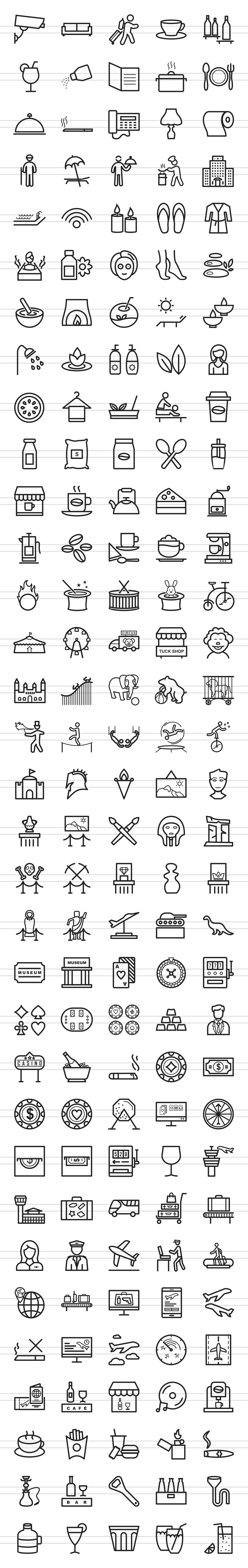 166 Places Line Icons example image 2