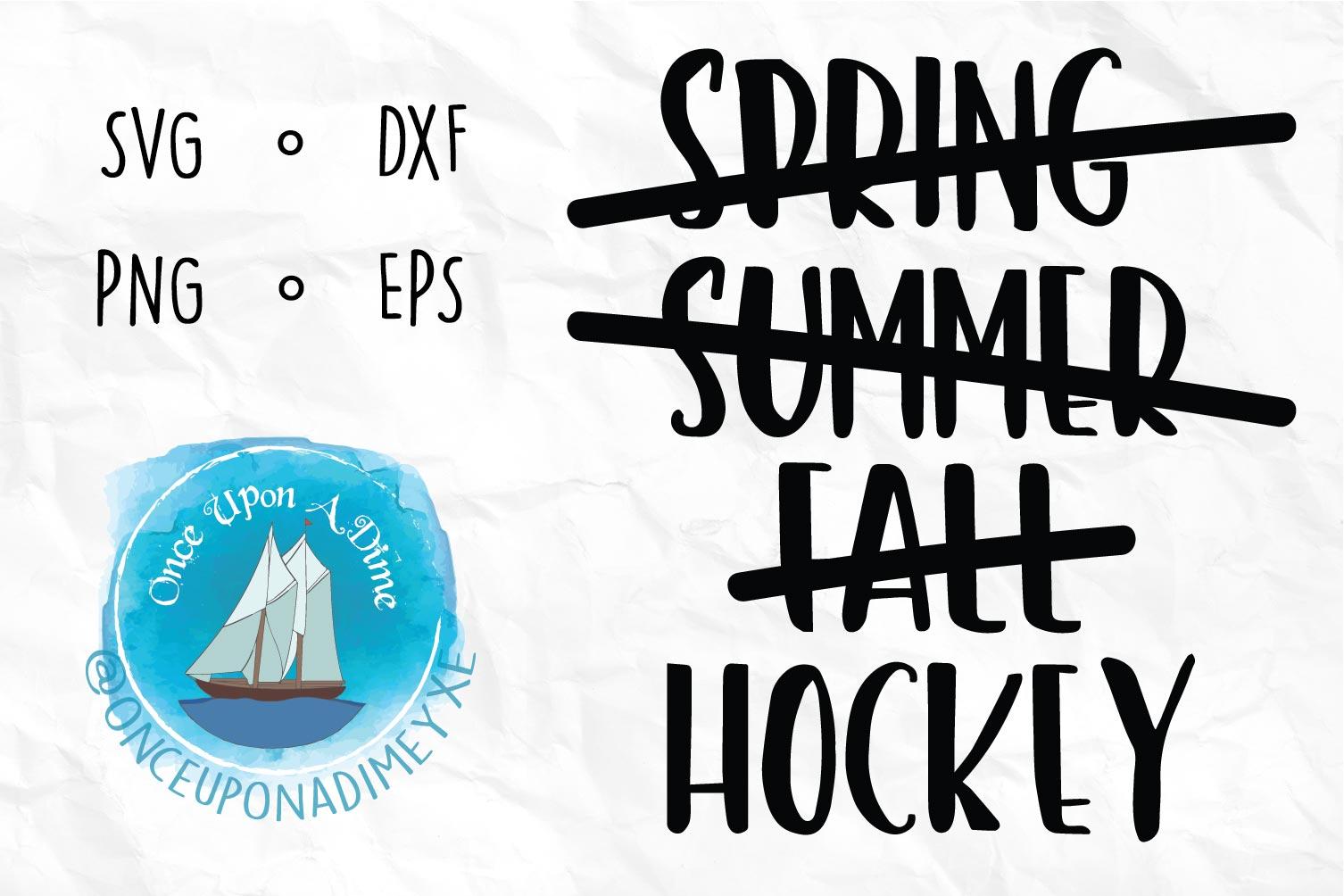 Hockey Season | Hockey | Hockey SVG Cut File example image 1