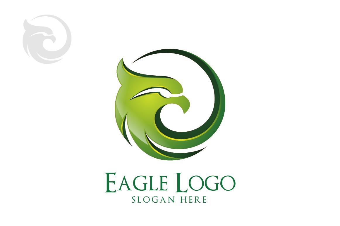 Eagle logo in circle, hawk , phoenix example image 4