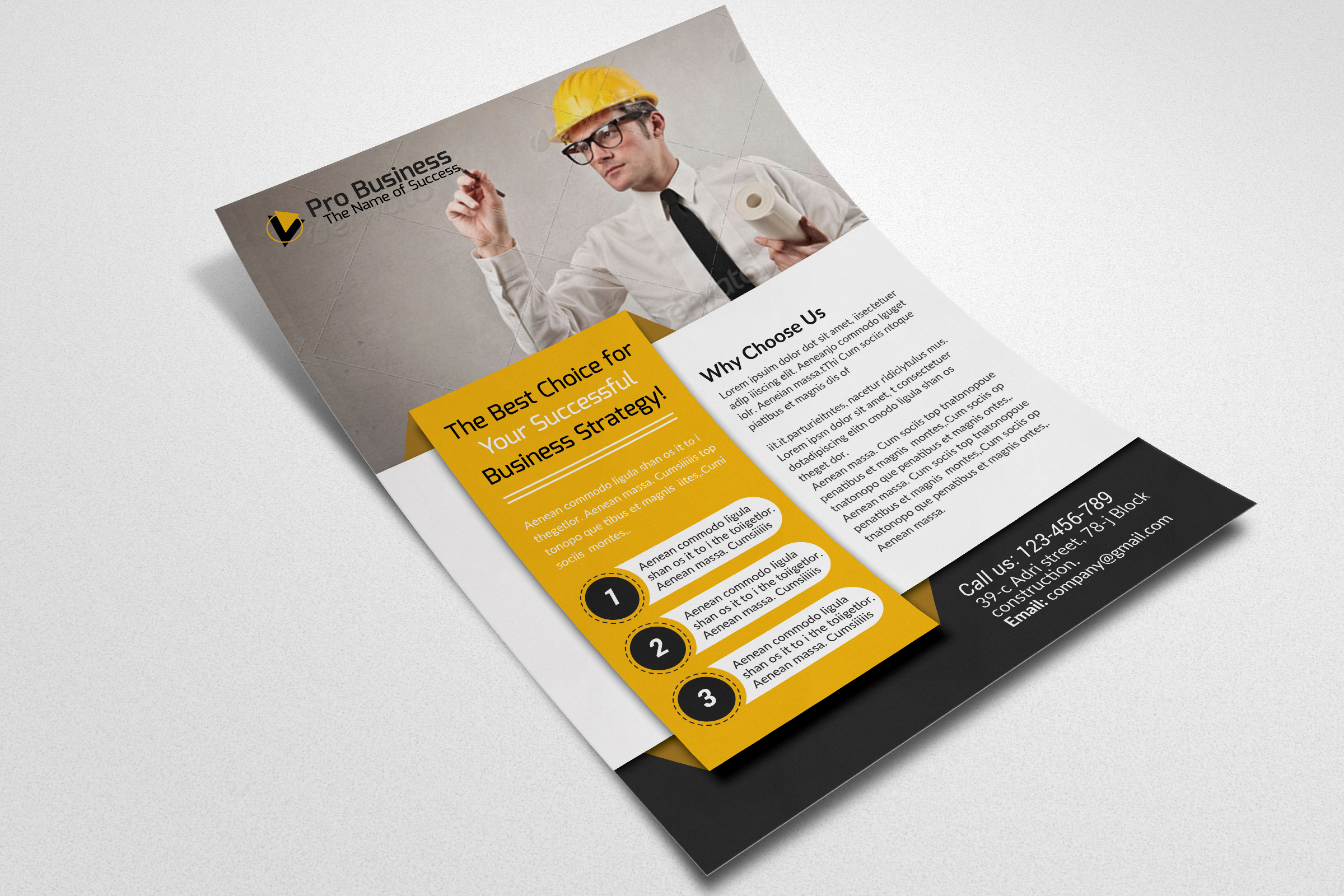 Civil Engineer & Architect Business Flyer  example image 3