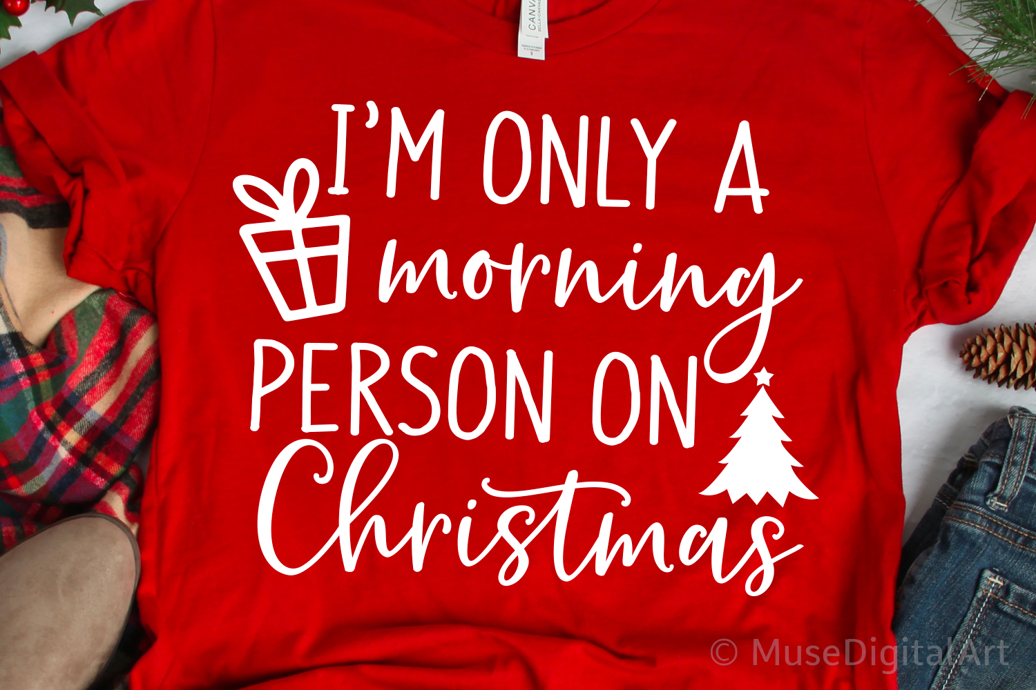 Im Only a Morning Person on Christmas Svg Christmas Svg File example image 1