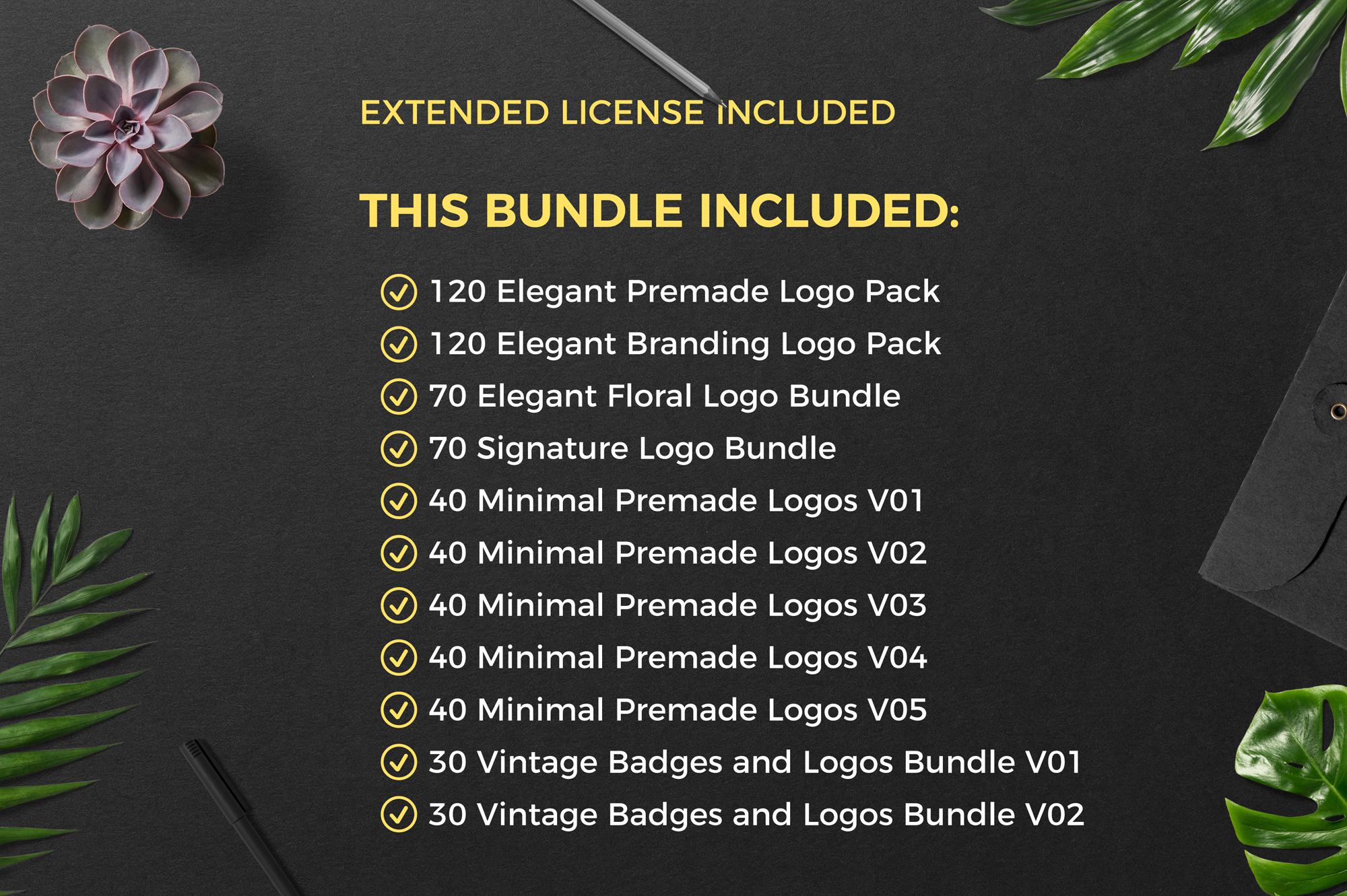 640 Premade Logos Mega Bundle example image 2