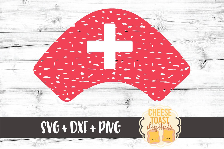Distressed Nurse Hat - Nursing Design SVG PNG DXF Cut Files example image 2