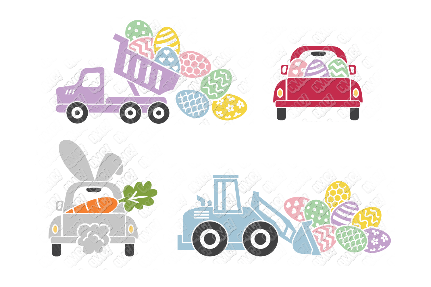 Easter Truck SVG Dump Truck in SVG, DXF, PNG, EPS, JPEG example image 3