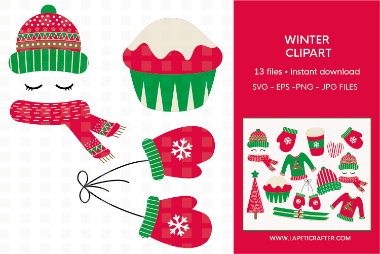 Winter Clipart, 13 instant download christmas vector example image 5