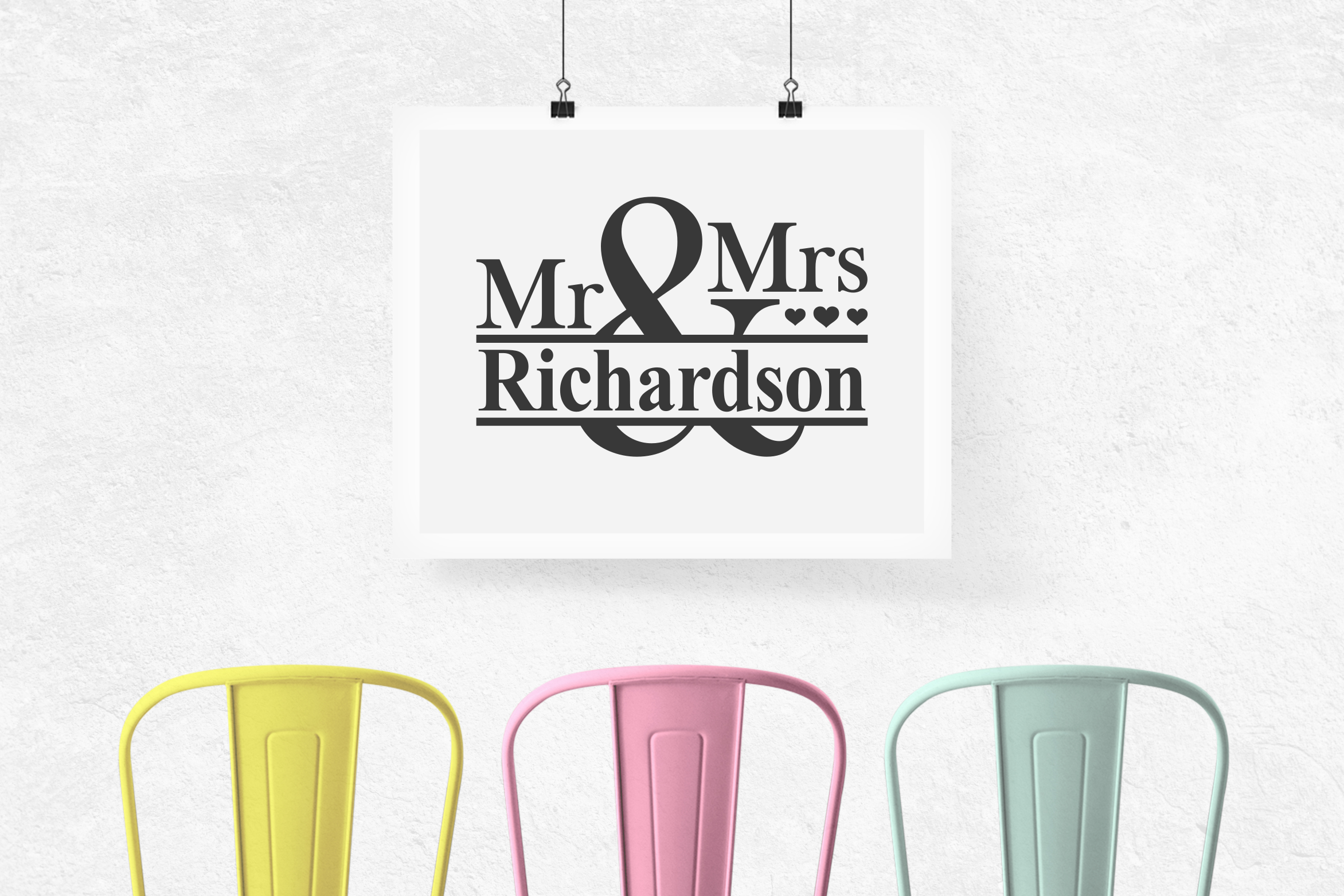 Mr and Mrs Svg, Mr and Mrs Monogram Svg, Wedding Svg example image 2