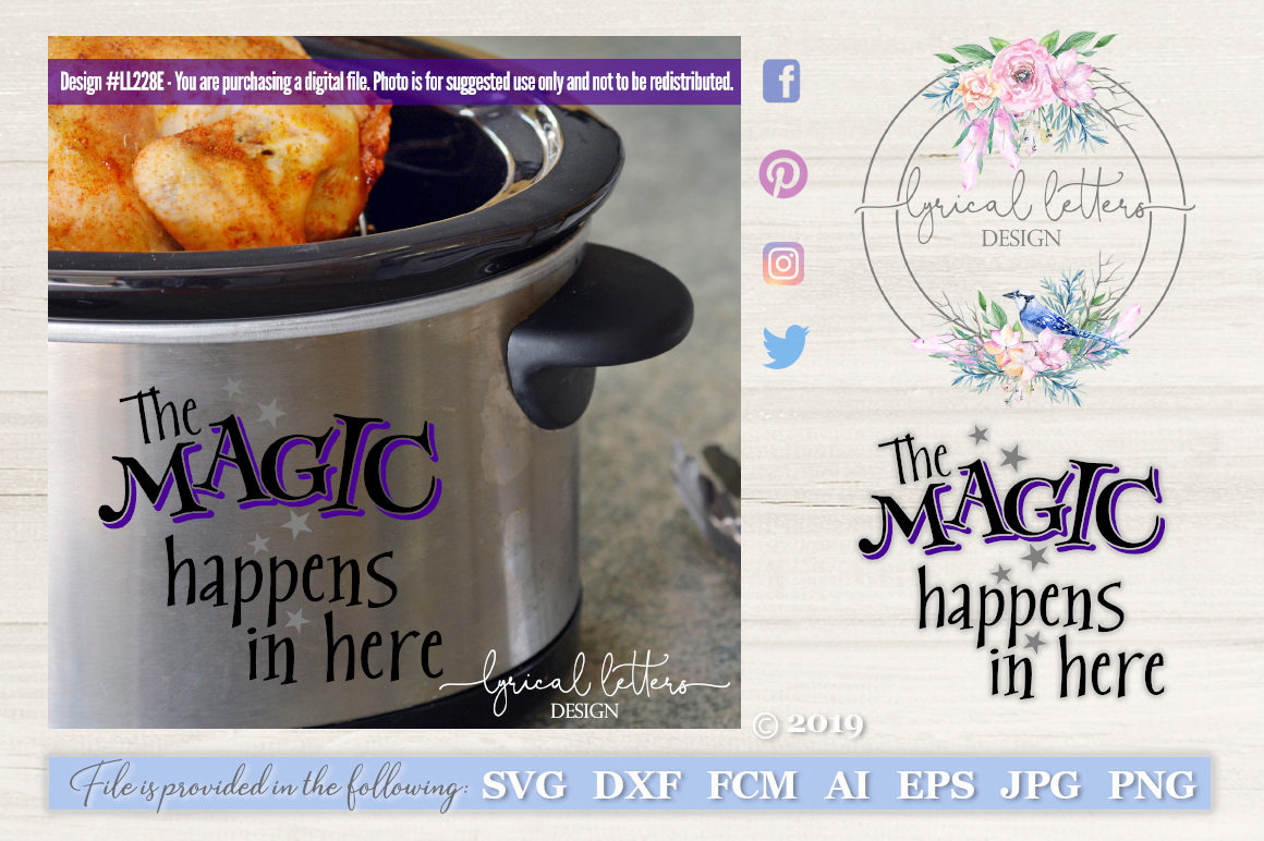 Slow Cooker Pressure Cooker Magic Happens In Here SVG LL228E example image 1
