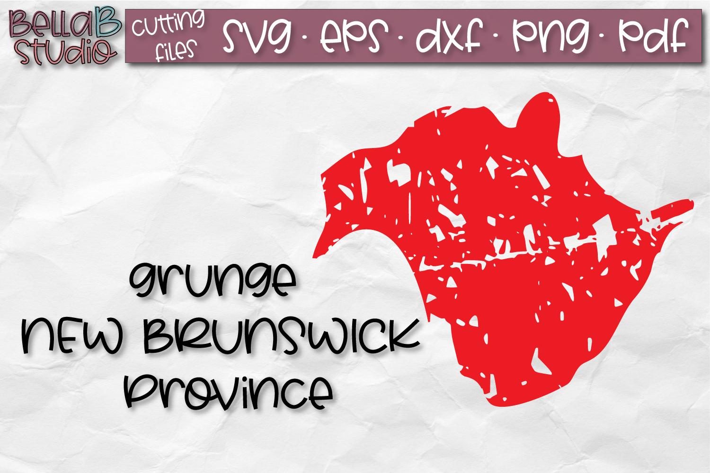 New Brunswick SVG, Canada SVG, Canadian SVG, Distressed SVG example image 1