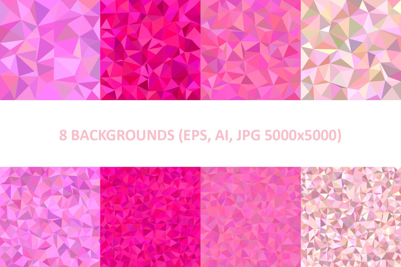 48 Triangle Backgrounds AI, EPS, JPG 5000x5000 example image 6