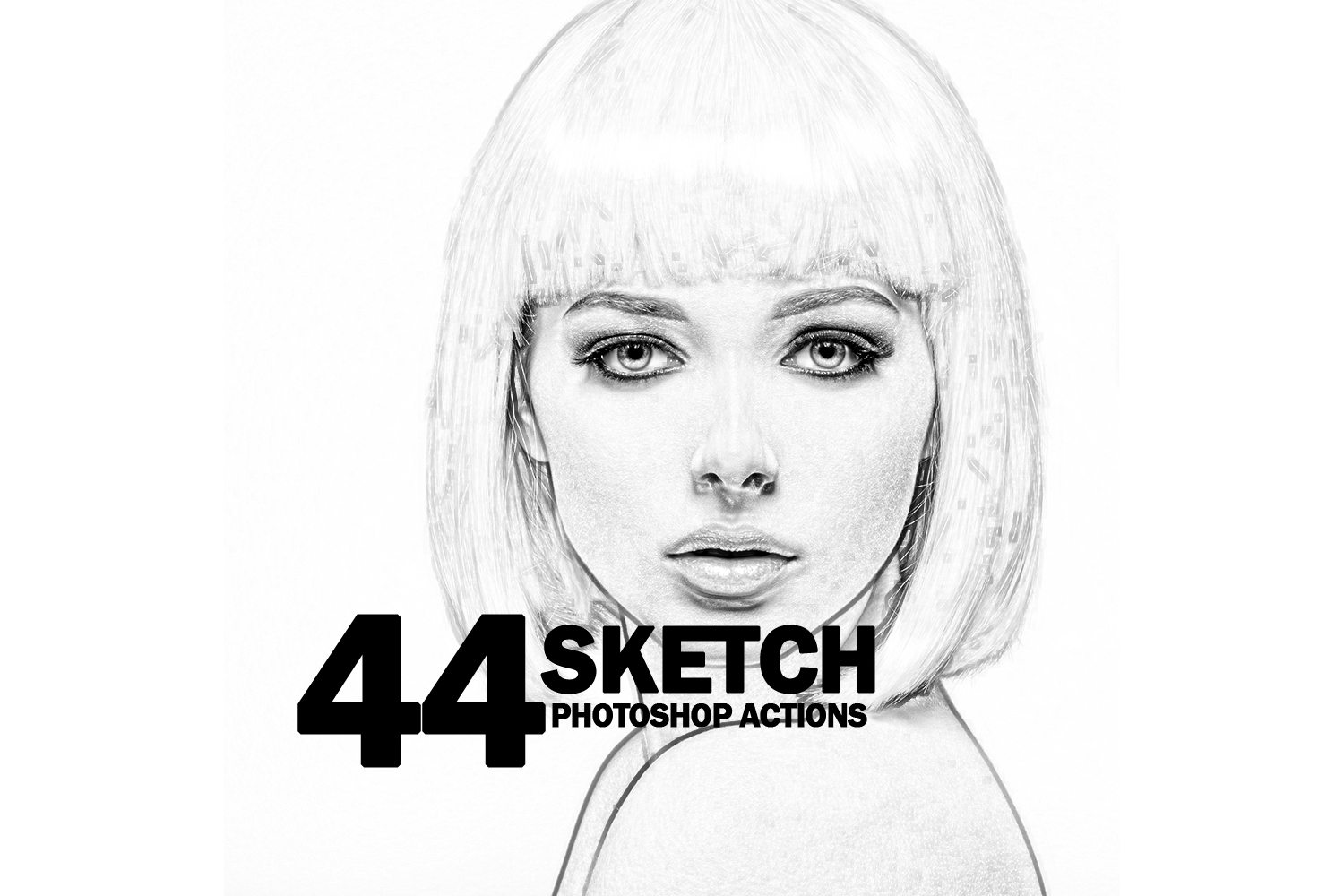 44 Sketch Photoshop Actions Collection (Action for photoshop CS5,CS6,CC) example image 1