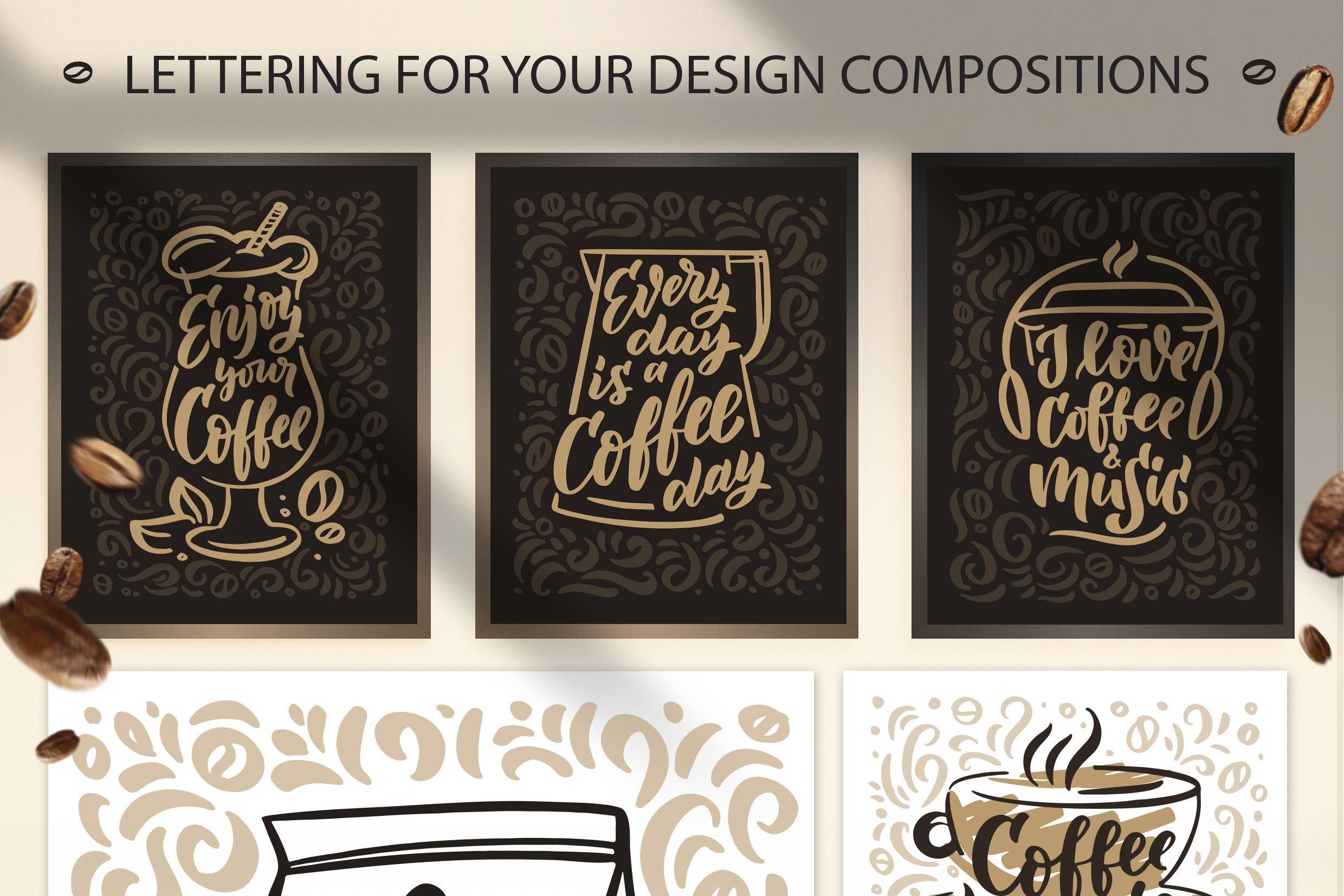 Coffee lettering clipart, vintage example image 3
