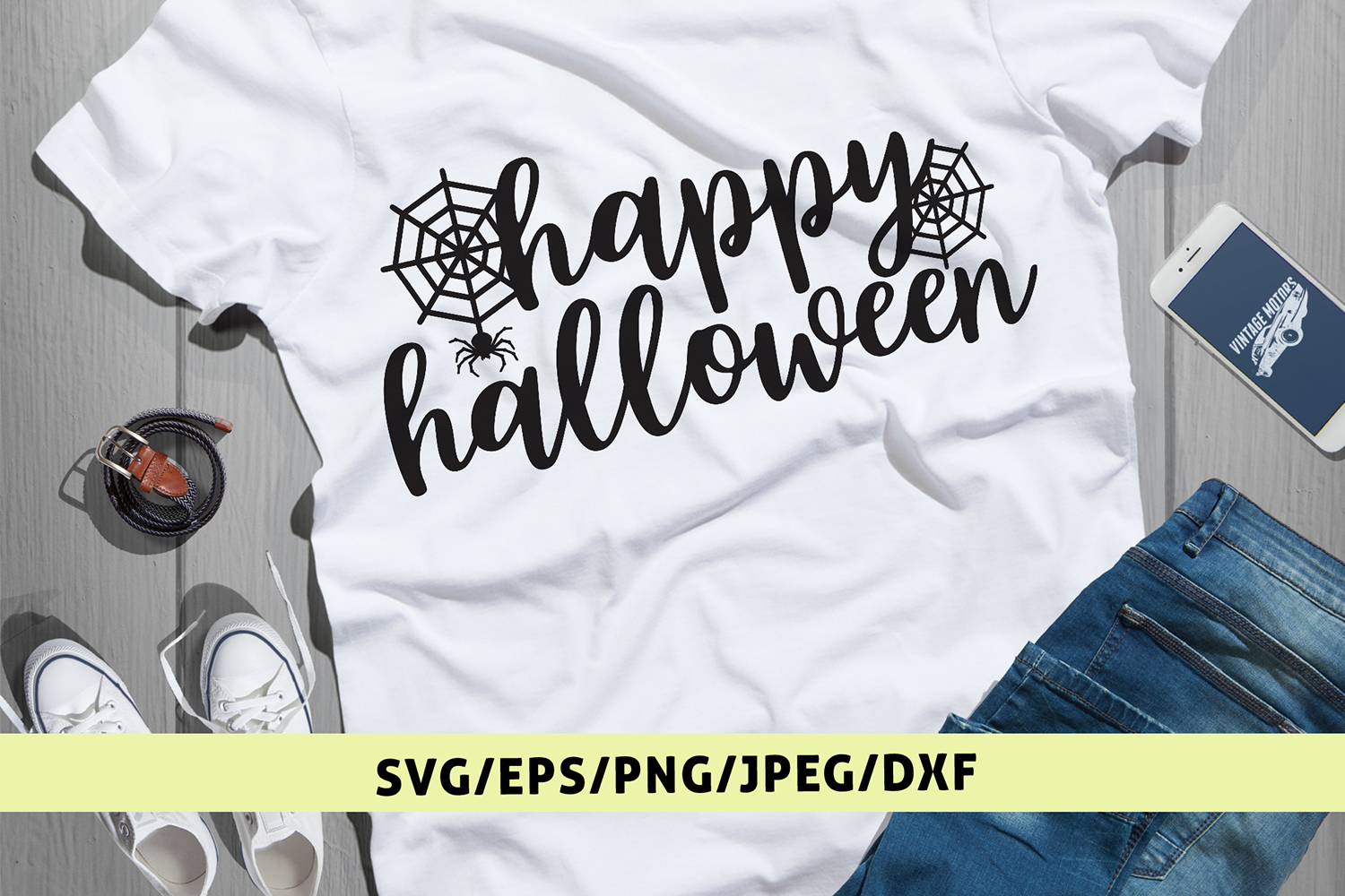 Happy Halloween - Halloween SVG EPS DXF PNG Cutting Files example image 1