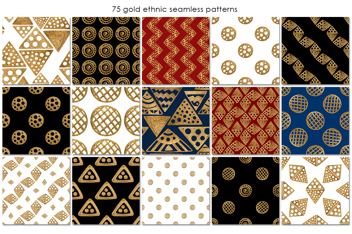 GOLD ETHNIC patterns example image 5
