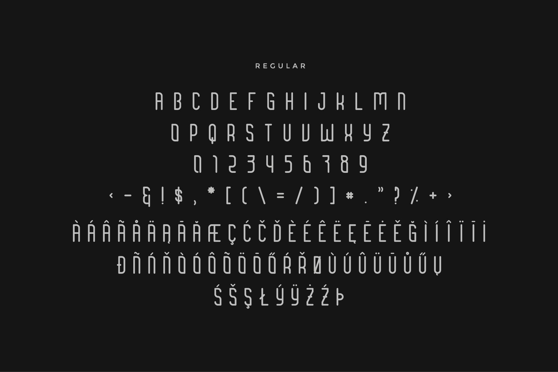 Brengkel - Condensed Font example image 4