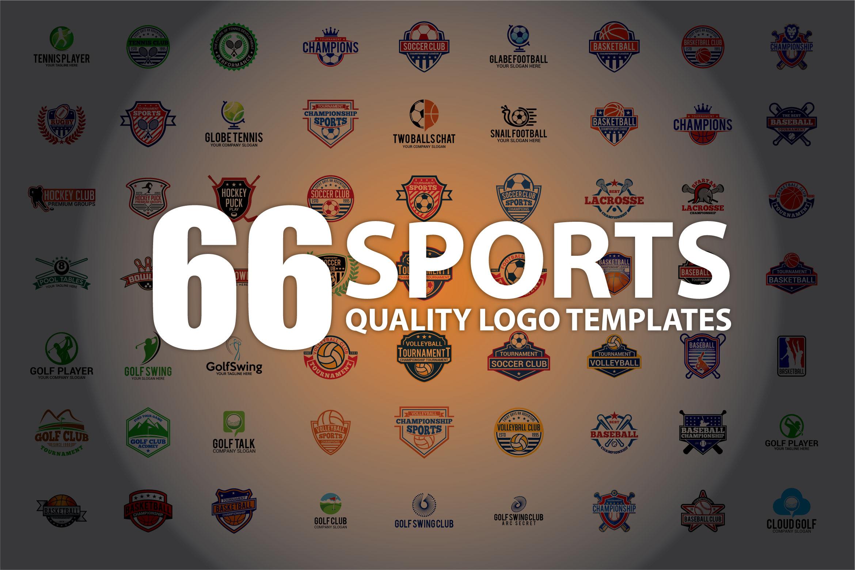 66 SPORTS Logo Templates BUNDLE example image 1
