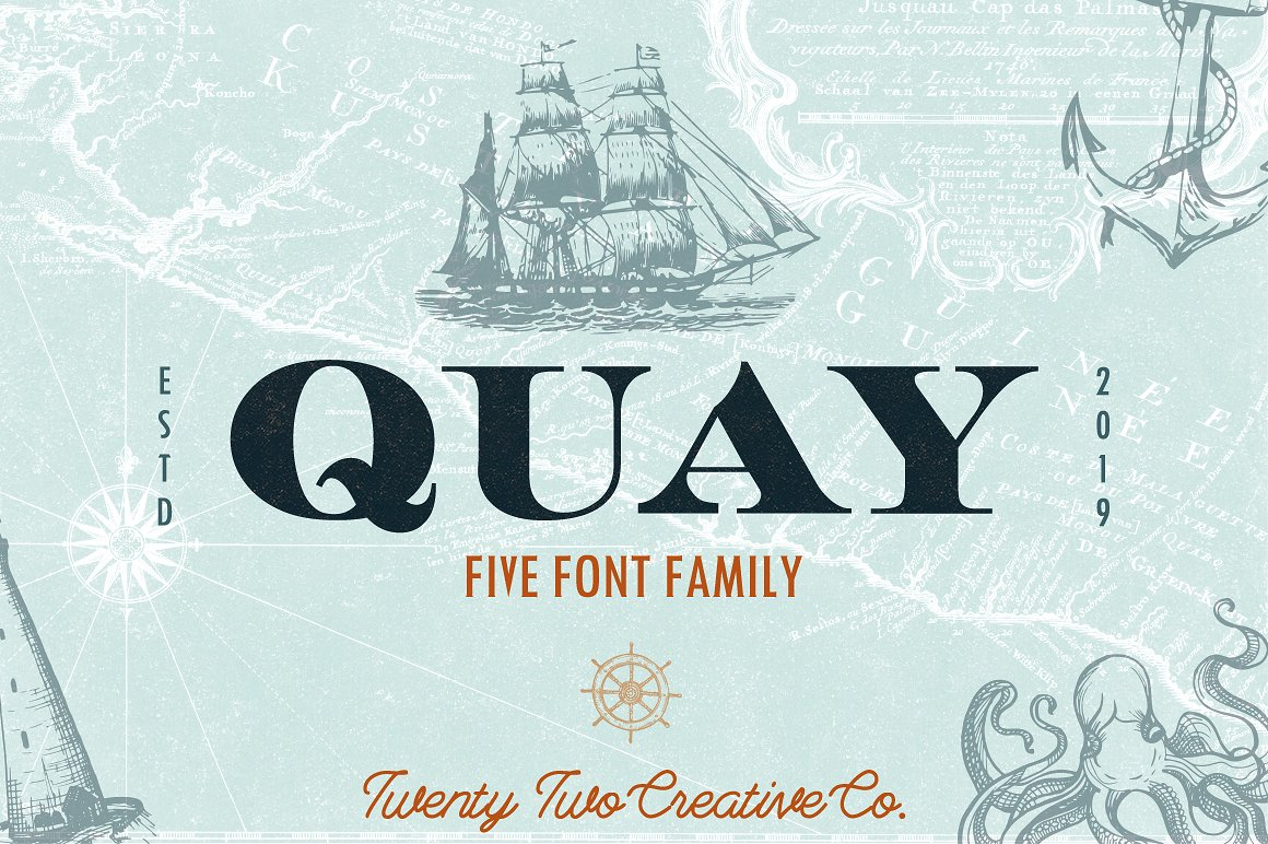 Quay Font Bundle & Bonus Logos example image 1