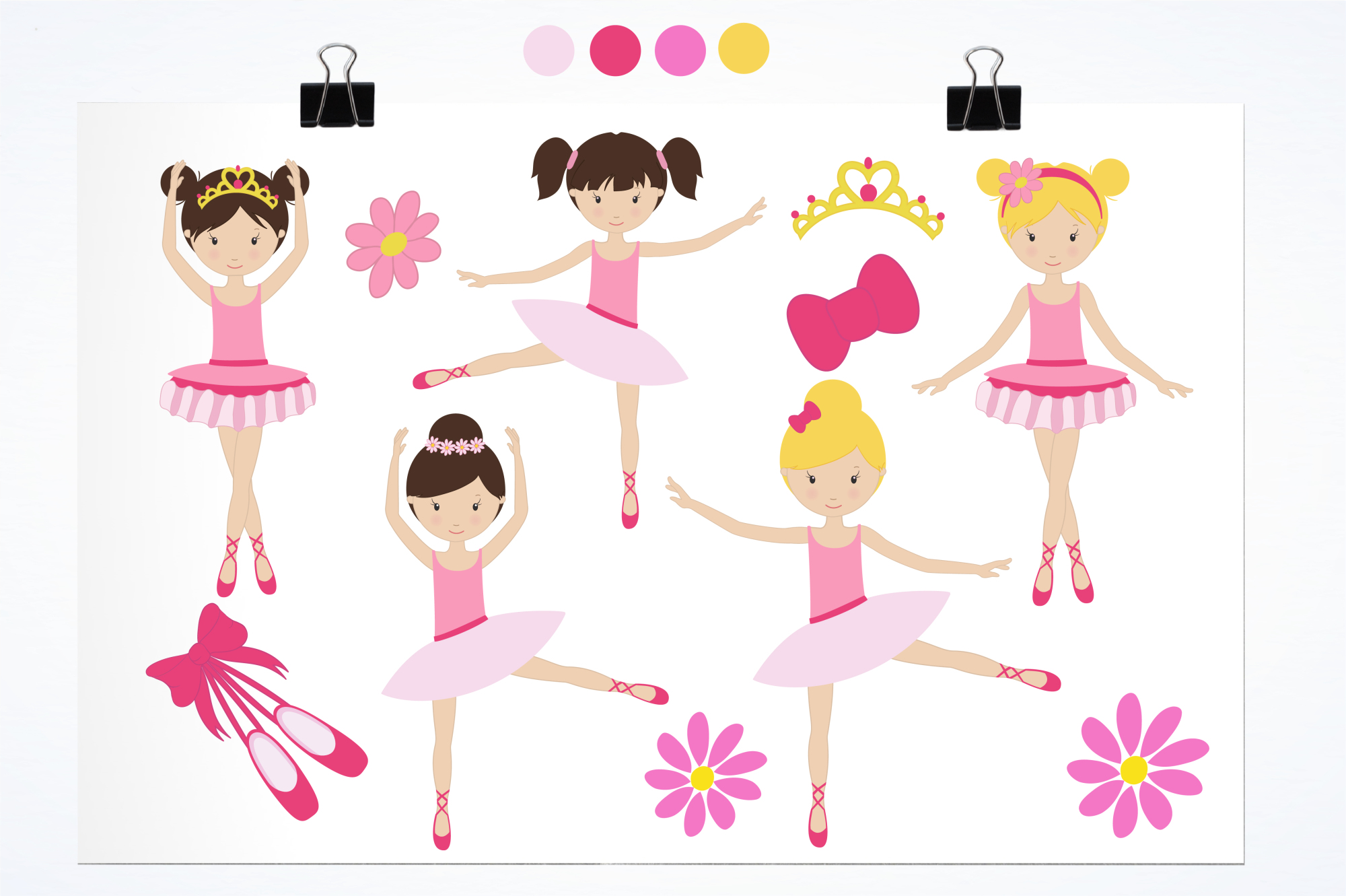 Dancing Ballerinas graphics and illustrations example image 2