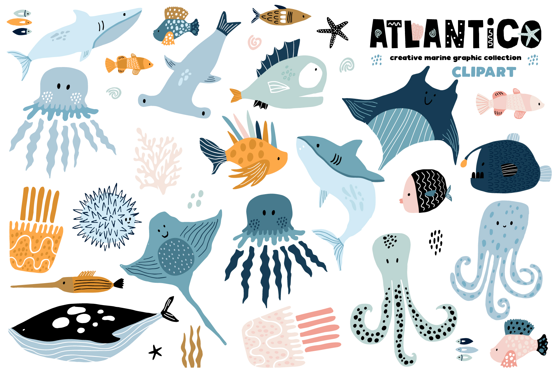 ATLANTICO. Marine graphic collection example image 10