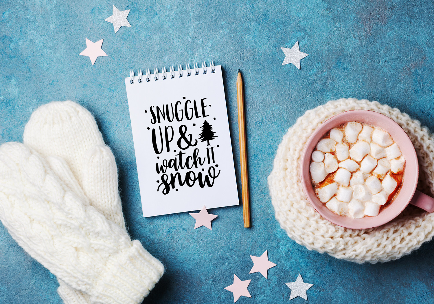 Winter Quote Cut File Bundle example image 9
