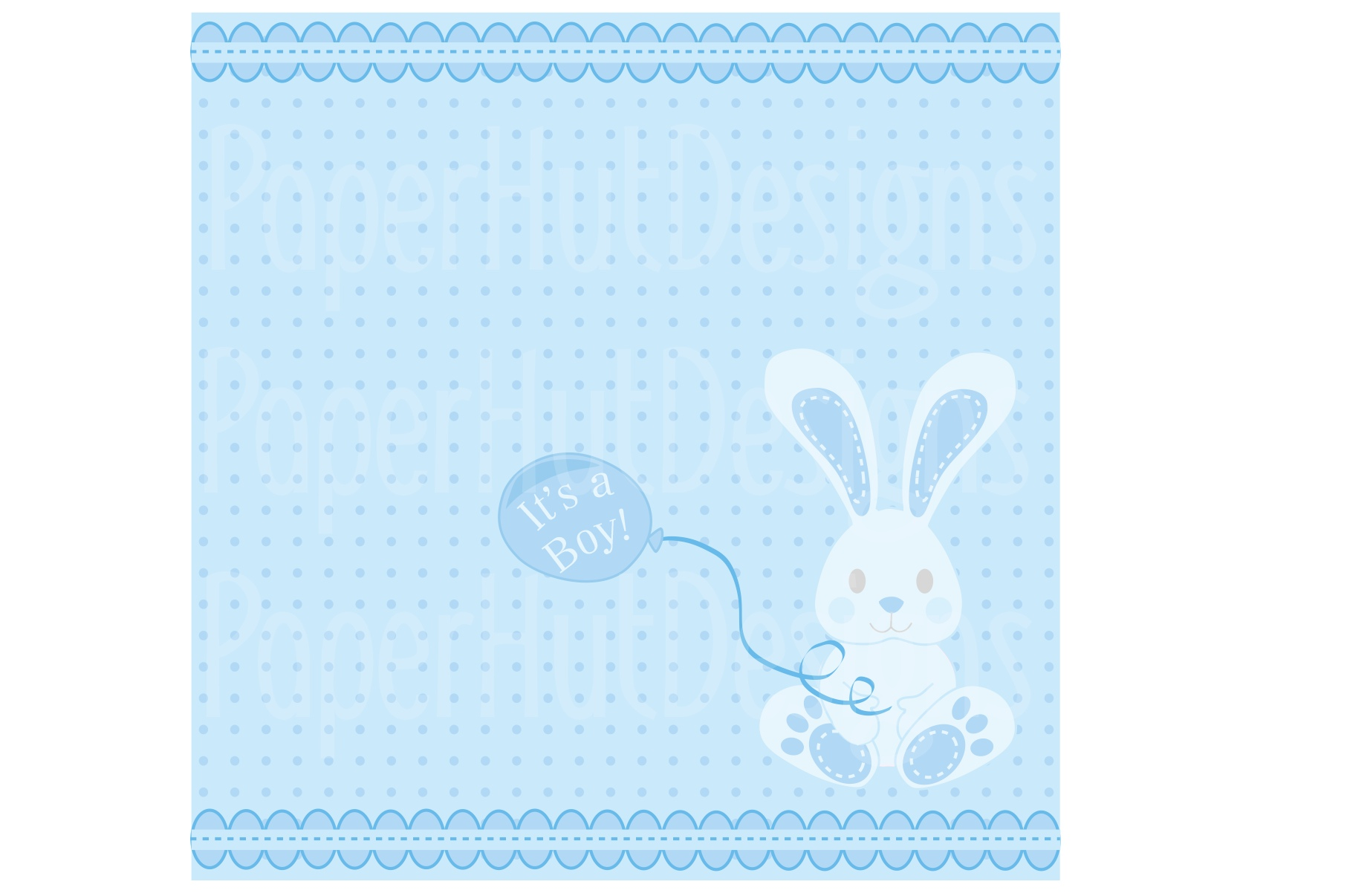 Baby Boy Clipart and Digital Papers Set example image 2