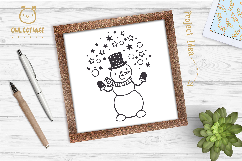 Let it Snow SVG Snowman, Snowman SVG, Christmas SVG example image 8