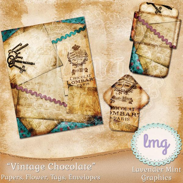 Vintage Chocolate Junk Journal Kit example image 3
