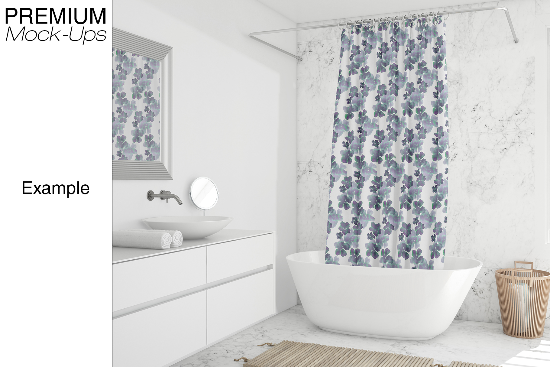 Shower Curtain Mockup Pack example image 7