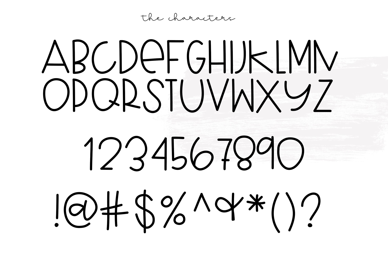 Blueberry Shake - Handwritten Font example image 5