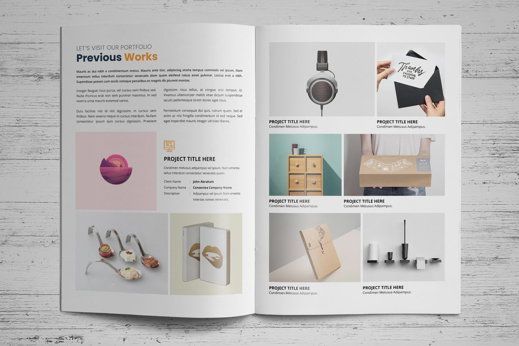 Portfolio Bifold Brochure Design v1 example image 4