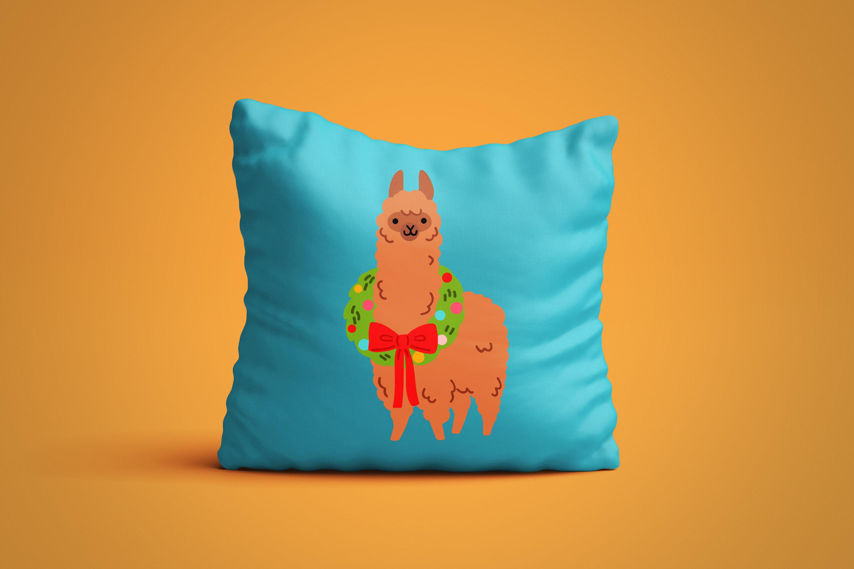 Christmas Alpacas Vector Art example image 4