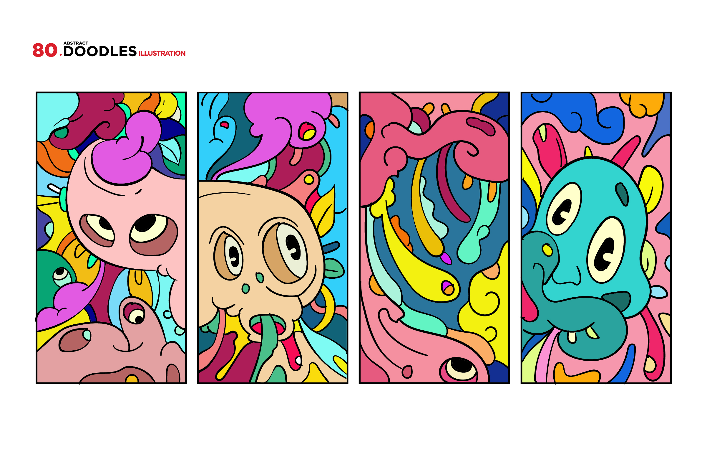 80 Cartoon Doodle Illustrations example image 9