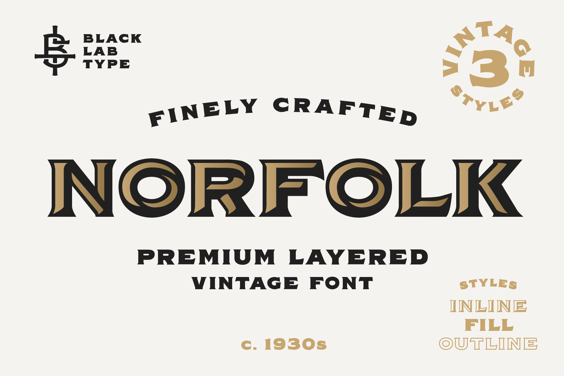 Norfolk - Vintage Display Font example image 1