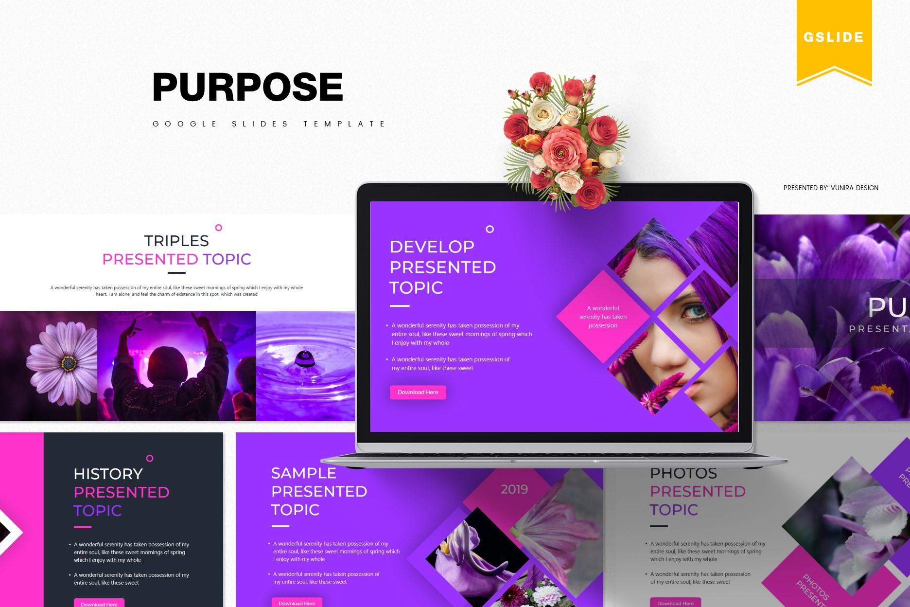 Purpose | Powerpoint, Keynote, GoogleSlides Template example image 3