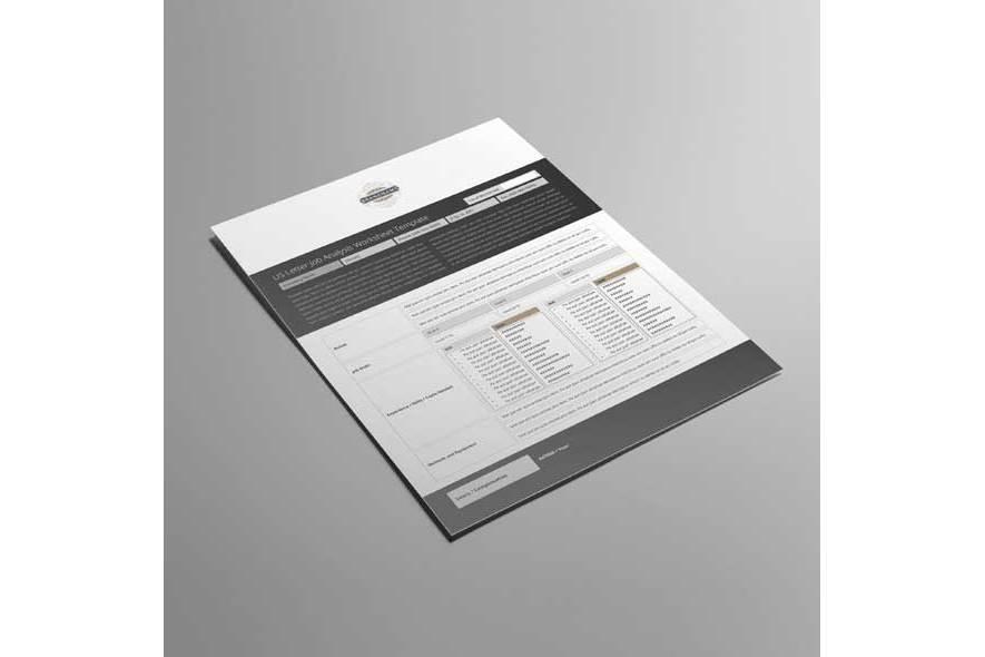 US Letter Job Analysis Worksheet Template example image 4