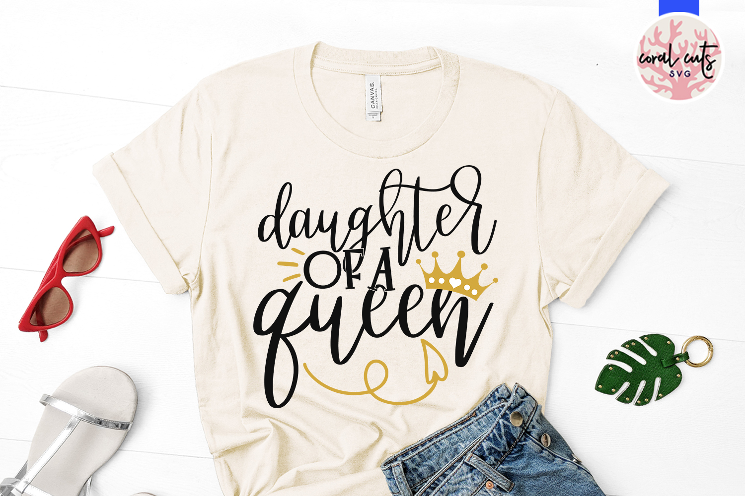 Mother of a princess and daughter of a queen Matching Svg example image 3