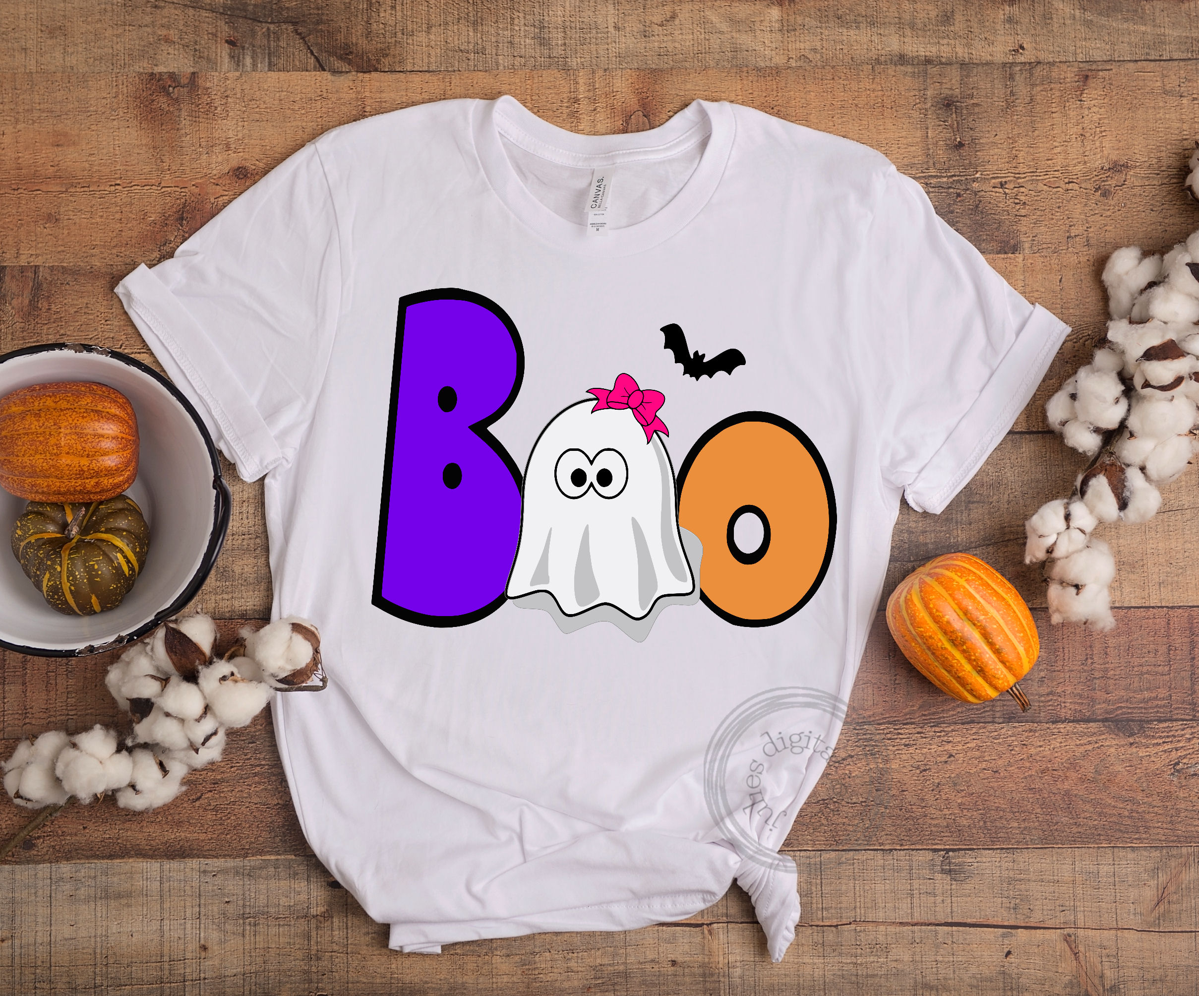 Boo girl ghost SVG, Halloween svg, by Julies digital jems example image 3