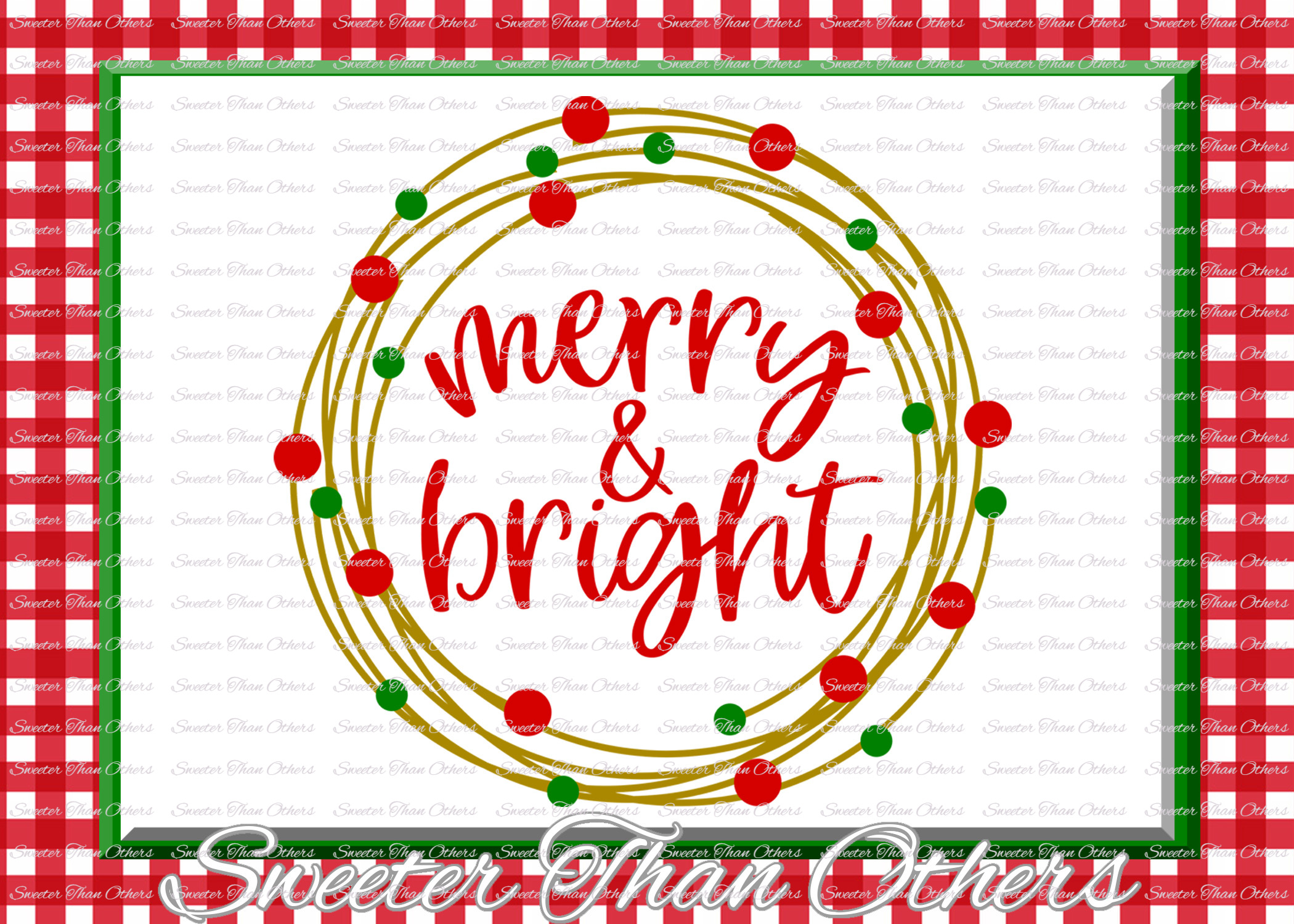 Merry and Bright Svg, Christmas svg, Santa svg example image 2