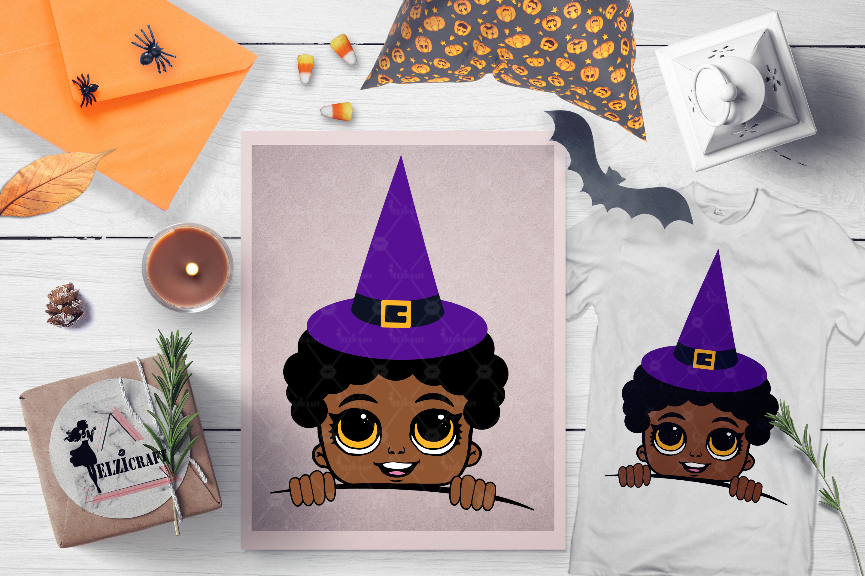 BUNDLE Halloween Afro Boys SVG Cut Files example image 4